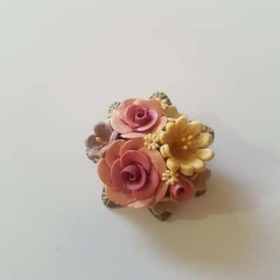 Womens Brooch Multicoloured floral arrangement