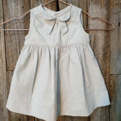 Baby's Jacadi Pinstripe Sleeveless Dress 6 months