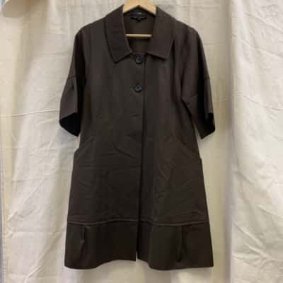 Women's Button Up 3/4 Sleeve Jacket By Cue - Size 8