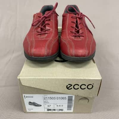 Ecco Ladies Sky Lace Brick Casual Shoes Size 37