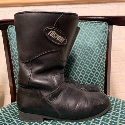 Mens  Size 10 Black Leather Boots