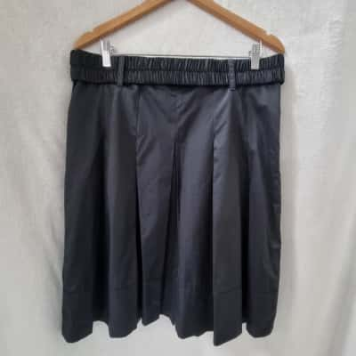 Jacqui-E Womens Pleated Black Skirt - Size 14