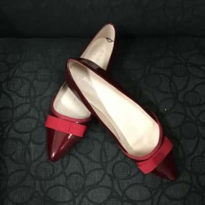 Jo Mercer Womens  Size 6.5 Maroon  Flats