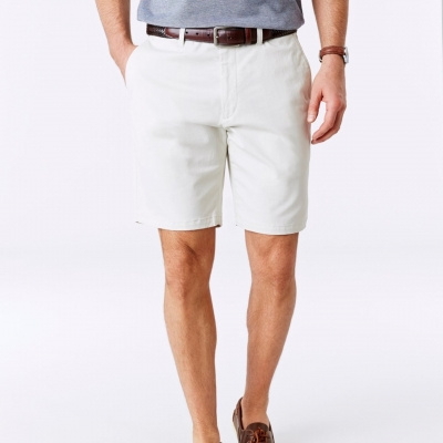 GAZMAN Mens Stretch Twill Shorts Size 38 Stone BRAND NEW
