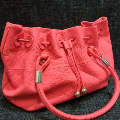 Oroton Womens Pink Leather Handbag