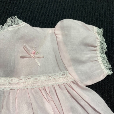 Baby Girl VINTAGE DRESS Size 0 Pink  MADE IN AUSTRALIA