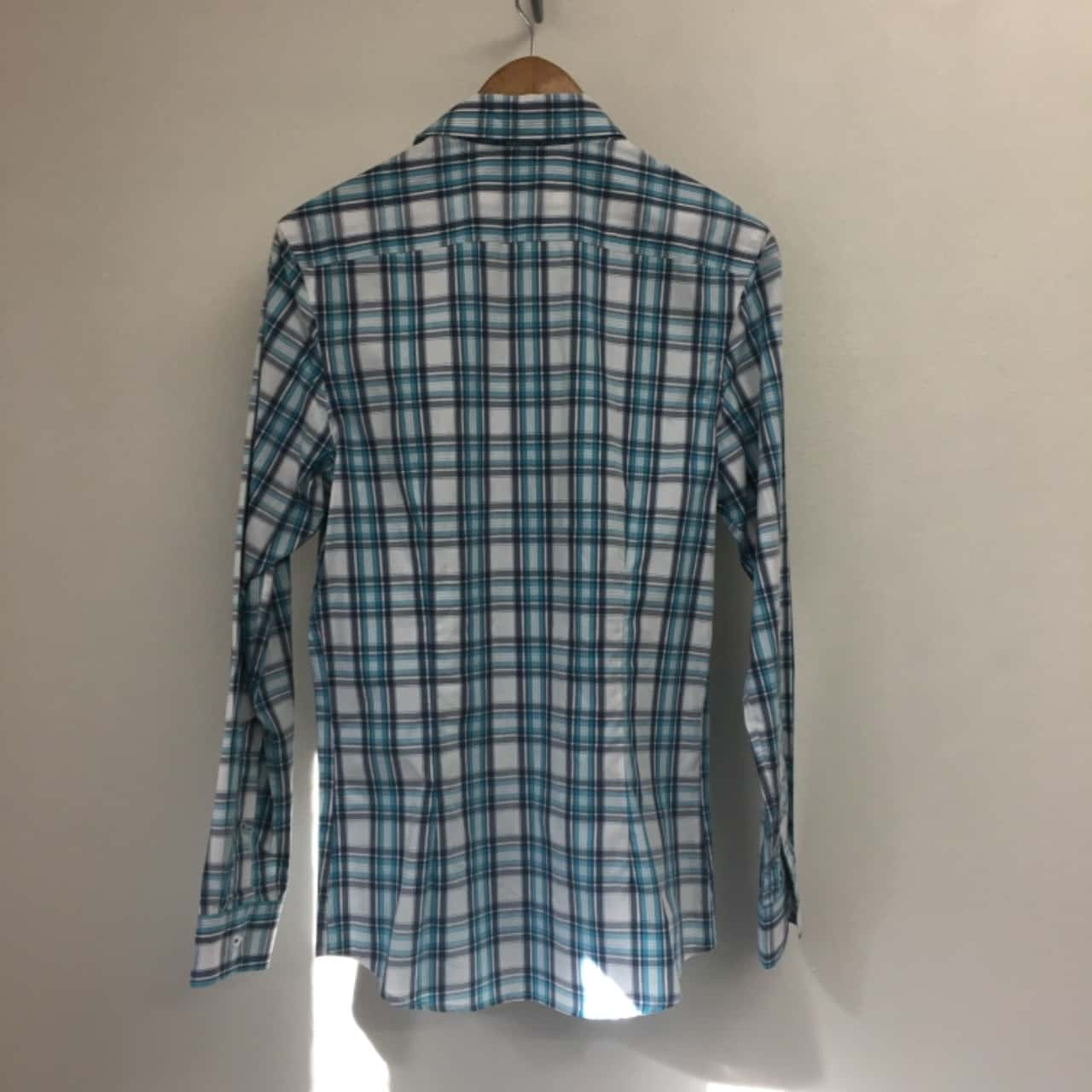 Mens  Size XS Long Sleeve Blue/White TAGGED