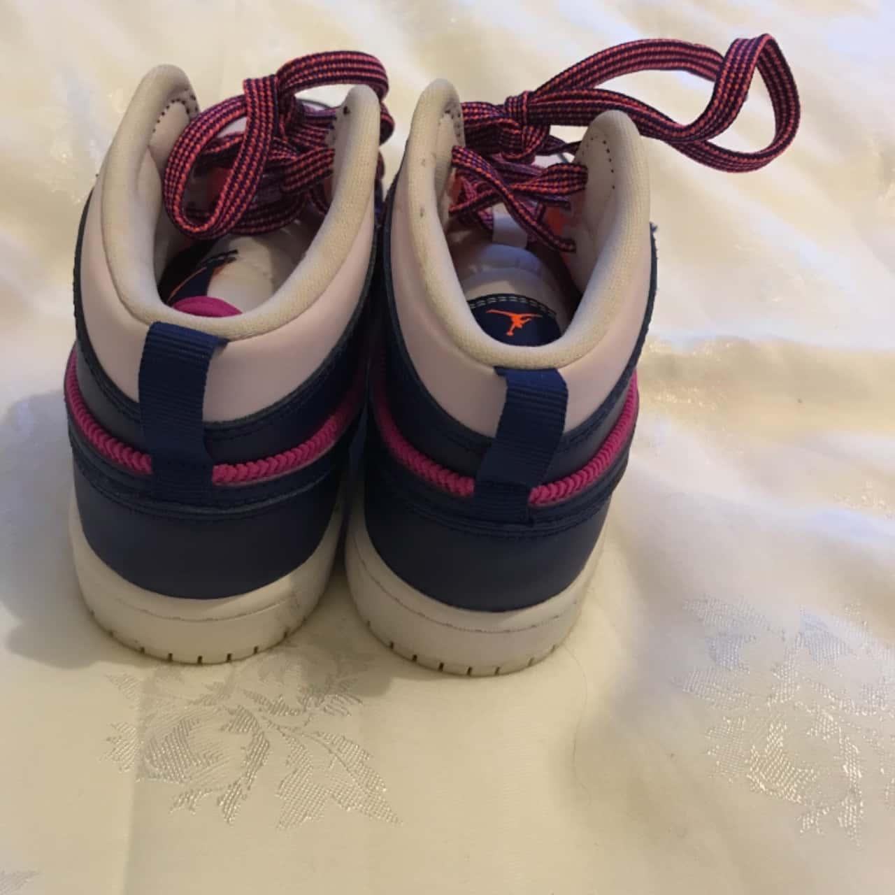 Nike Air Jordan  Kids Shoes Size 1.5 (IK) 2 ( US) Pink  / Navy
