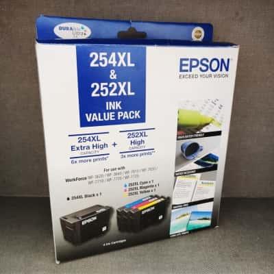 Epson High Capacity Inkjet Cartridges 254XL & 252XL