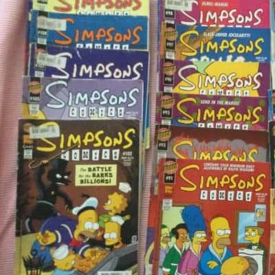 Simpsons Comics bundle of 14 assorted random comics