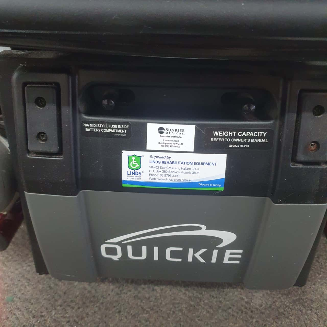 QUICKIE Xperience 2 Mid-Wheel Powered Wheelchair PICKUP ONLY