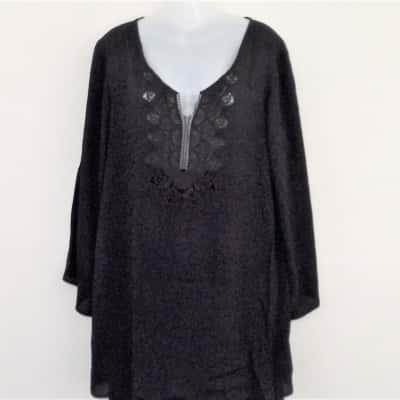 BNWT Womens  CARTEL &WILLOW LIGHTWEIGHT  Long Sleeve  Black  Size M