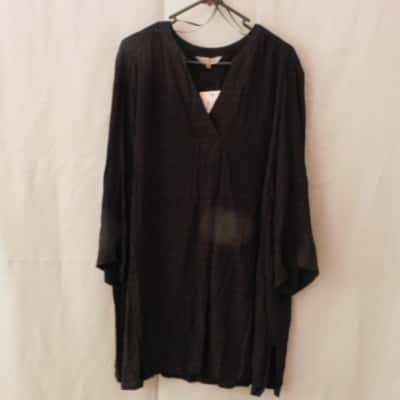 Belle Curve Target Ladies Black Long Sleeve Tunic Top Size 18+ NWT RRP $49