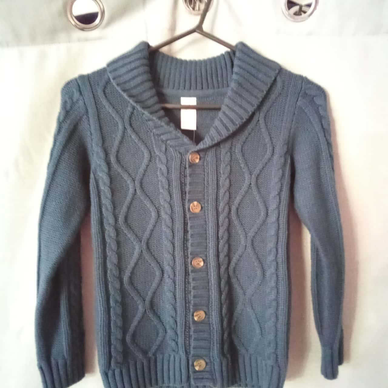 Anko Boys Navy Blue Cable Cardigan Size 7 NWT RRP $17.00