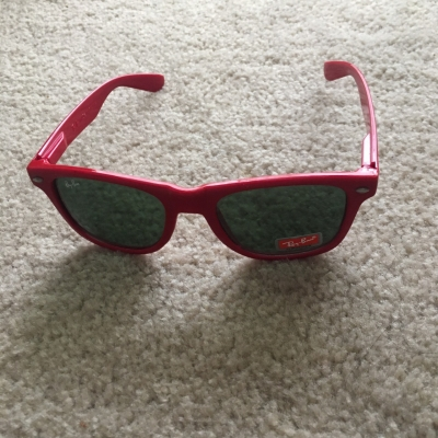 Ray Ban Mens Red Sunglasses, Made in Italy, ZX300