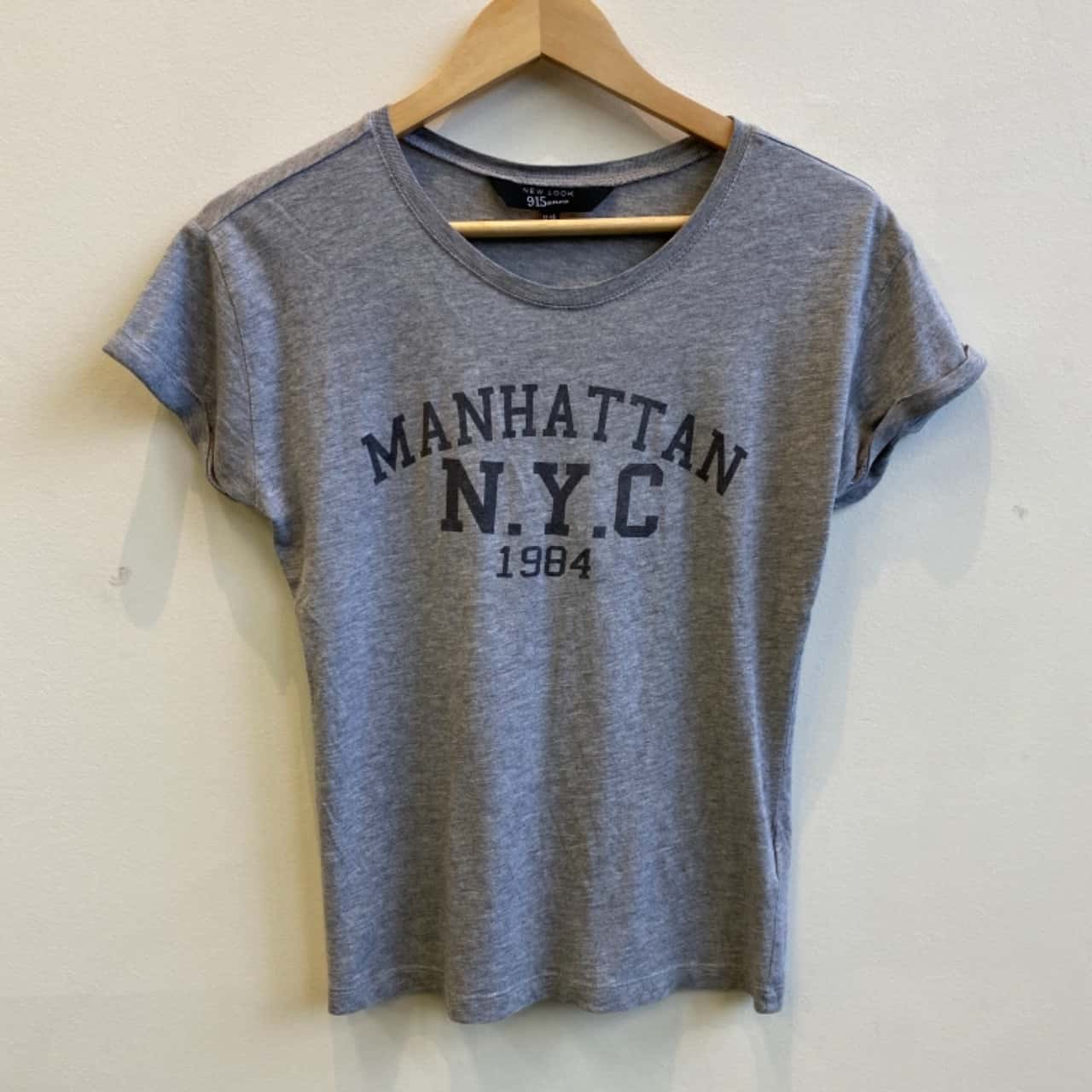New Look Girls Manhattan Print Grey T-shirt Size 12/13 Years