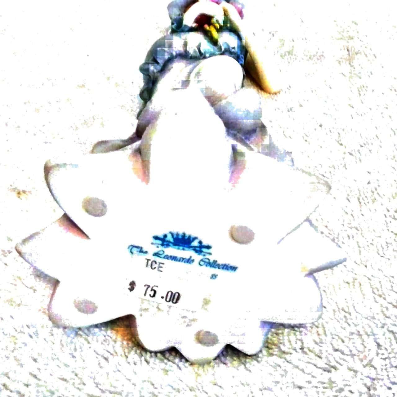 LEONARDO FIGURINE 'FLOWER PRINCESS 'BLUE' Approx 25cm tall RRP $75.00