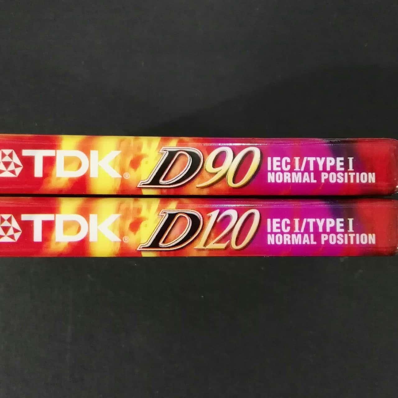 TDK D90 & D120 Music Cassettes New Blank