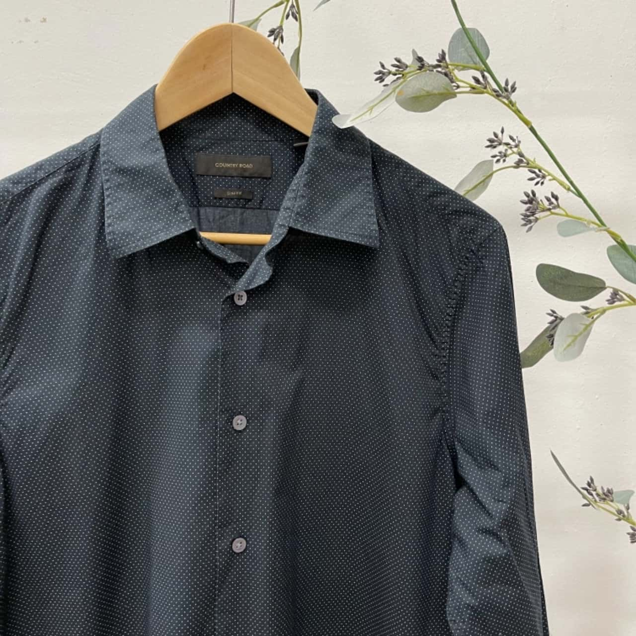 Country Road Mens  Size L Long Sleeve Navy Blue