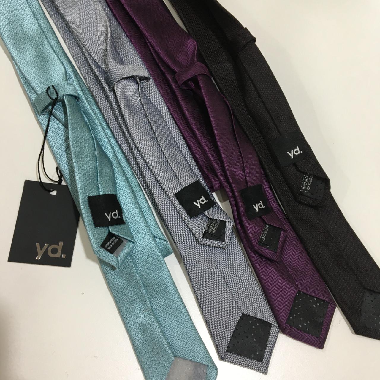 CLEARANCE - Yd. Men's Ties x 4, Black, Purple, Silver Grey, Aqua