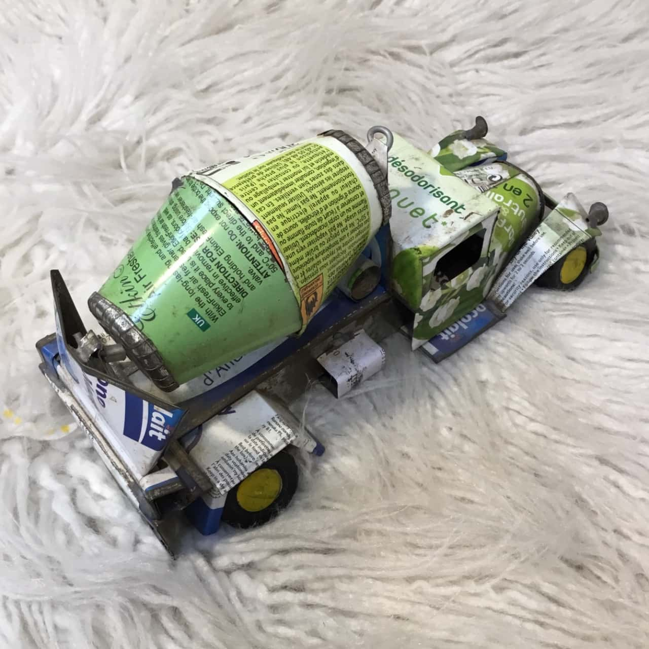 Recycled Crafts Cement Mixer Truck