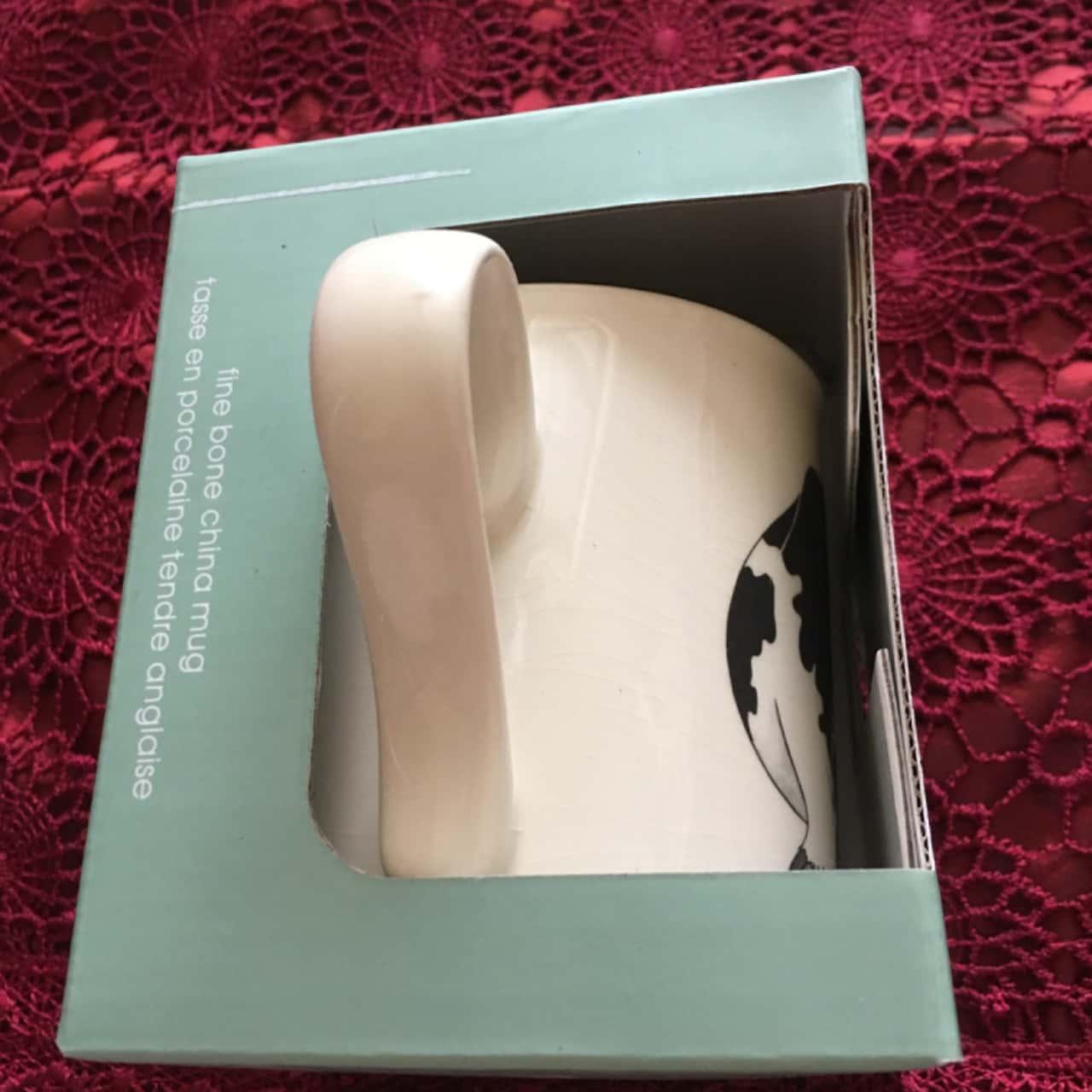 Royal Worcester Wrendale Fine Bone China Mug - Design Cow, Brand New