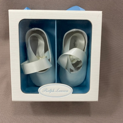 Ralph Lauren Kids White Leather Shoes Size US 4 Brand New
