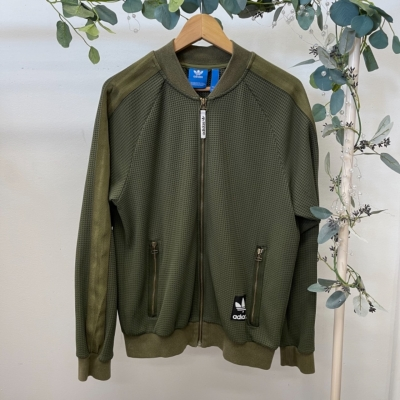 Adidas Mens Jacket Size M Khaki Green