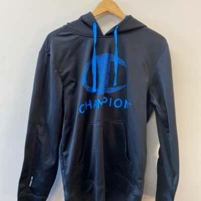 Champion Men's S Black Hooded Jumper
