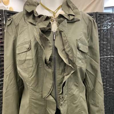 Monaco Jeans Womens  Jacket Size 18 Green