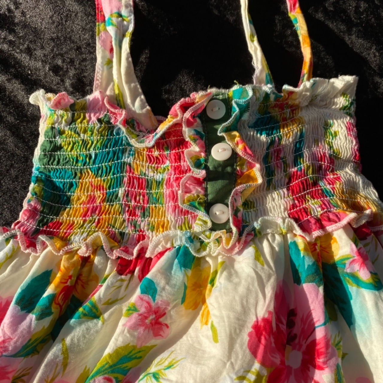 DKNY Girls Size 4 Dresses & Skirts Floral/Multicoloured/White