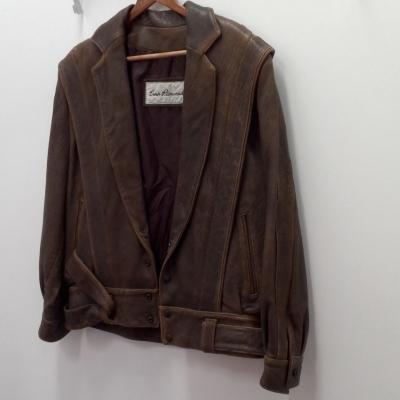 Mens  VINTAGE ERICH PLANINSEK Leather Jacket Brown  Size S