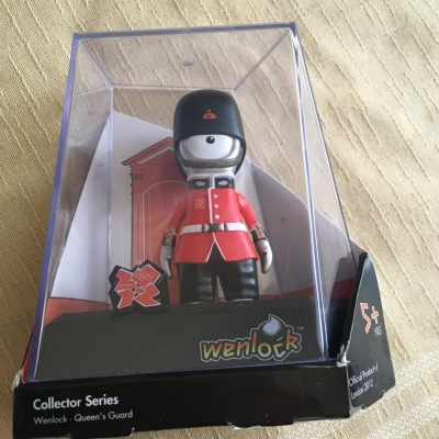 Wenlock Queen's Guard Figurine - Special Edition Olympic Mascot - London 2012