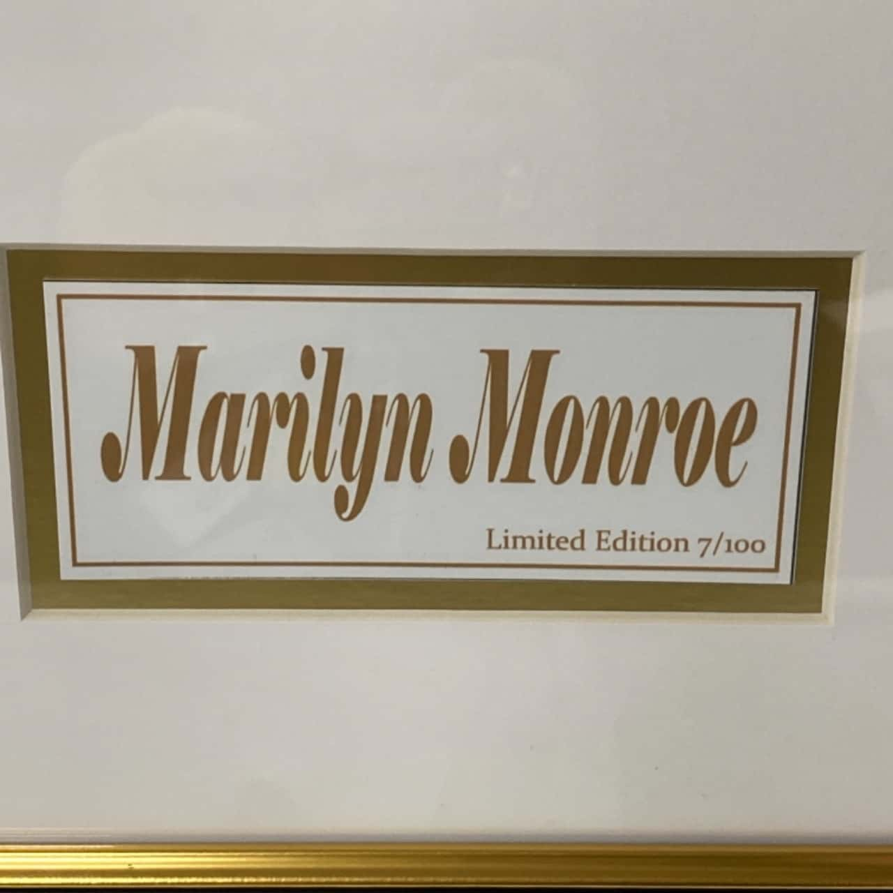 Marilyn Monroe limited edition print