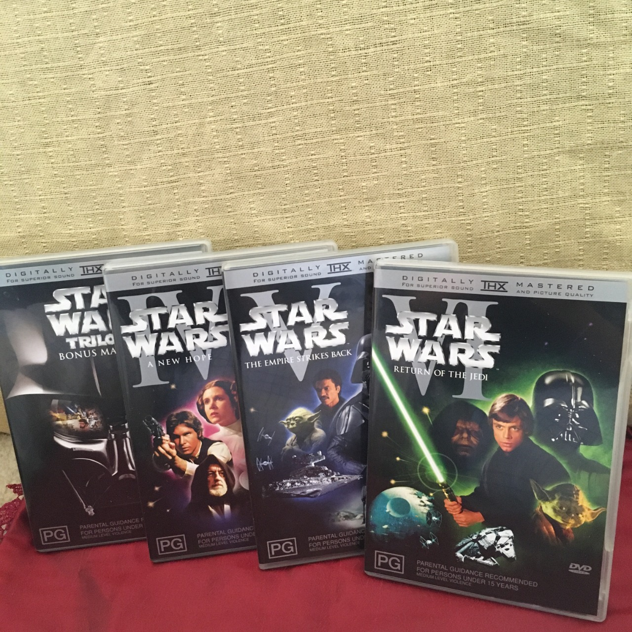 Star Wars Trilogy Boxed DVD Set - 4 Disc Region Code : 4/PAL