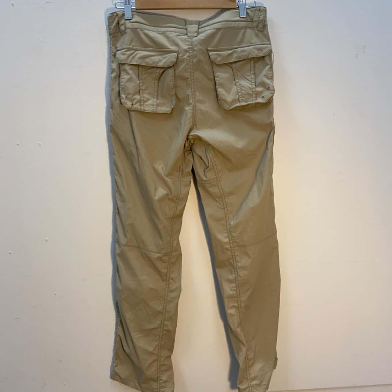 Mens Lightweight Cargo Travel/Hiking Pants Small
