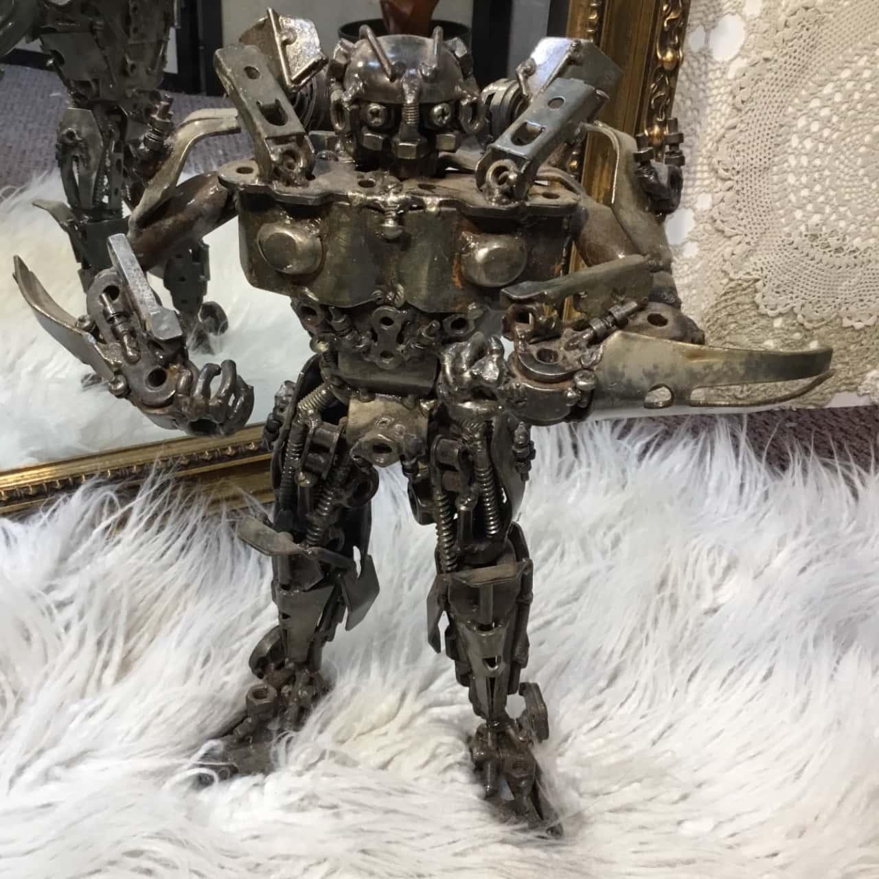 Upcycled Metal Man