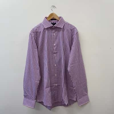 Oxford Men's Size XL Checked Long Sleeve Shirt - New With Tags