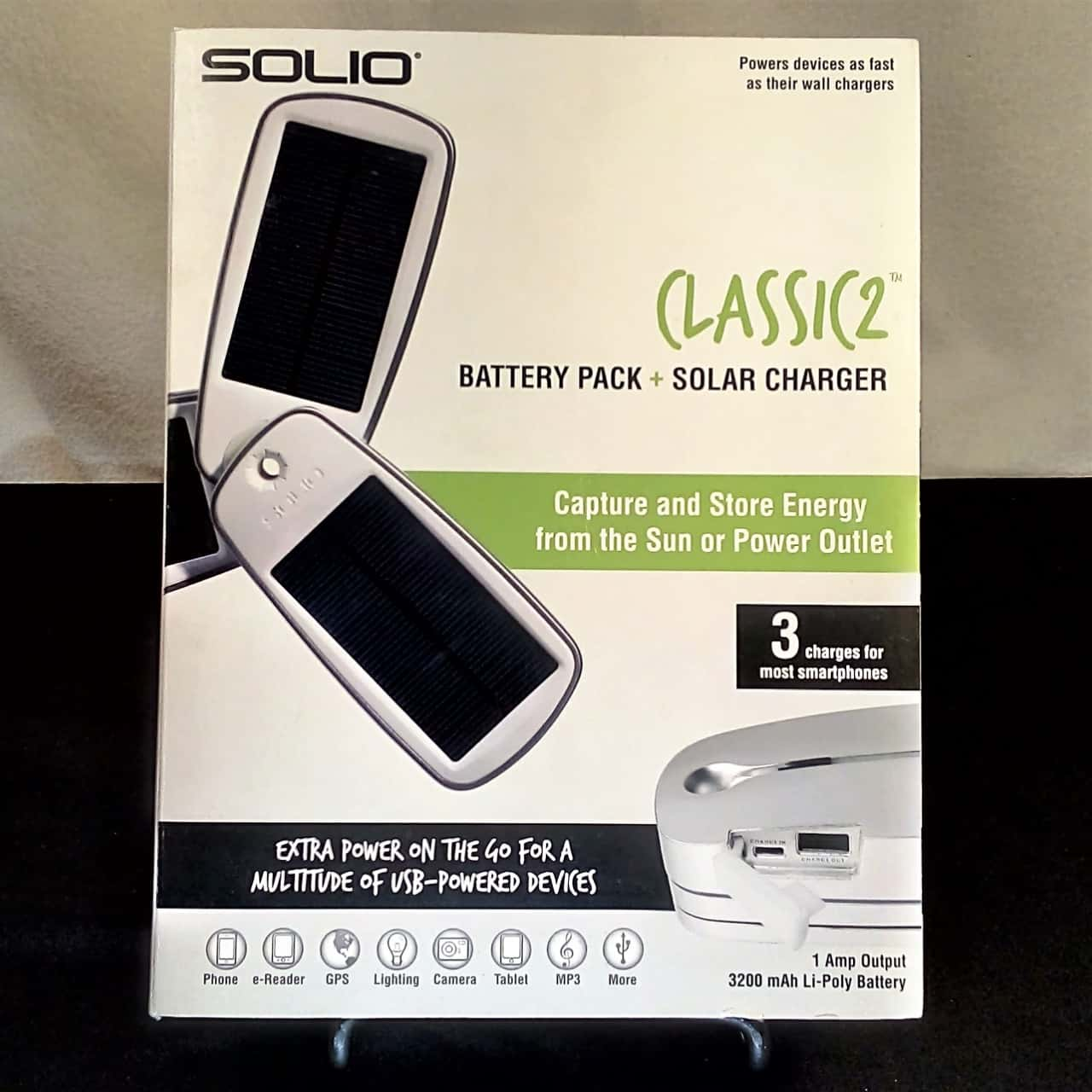 SOLIO Classic 2 Battery Pack and Solar Charger