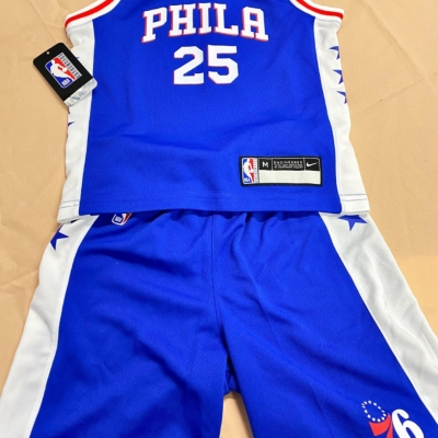 Nike Kids White/Blue NBA Philly set