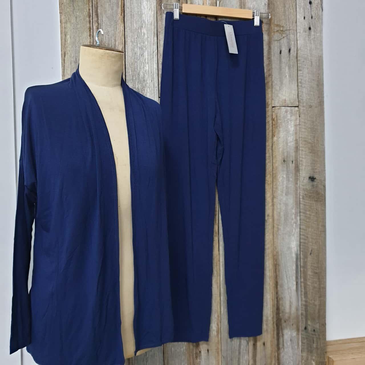 Women's Clementine, New Pyjamas, Bamboo Blend Navy Blue, Size S