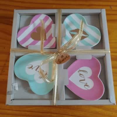 Cupid Trinket Tray Set of 4 Brand New