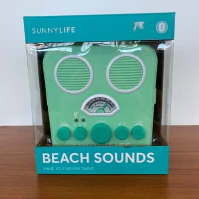 Sunny Life Beach Sounds Sand and Water Resistant Speaker/Radio