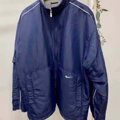 Nike Mens Fleece Lined Jacket Size L Navy Blue