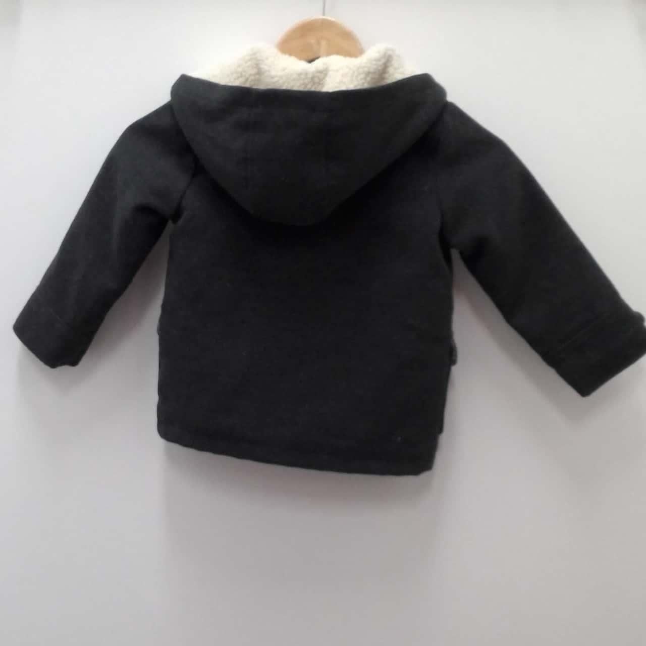 Kids Unisex LUCIE &MARC VINTAGE STYLE HOODED DUFFLE COAT Size 4 Jackets Cream/Grey