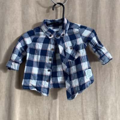 David Jones Kids  Size 00 Tops Blue/Checked/White