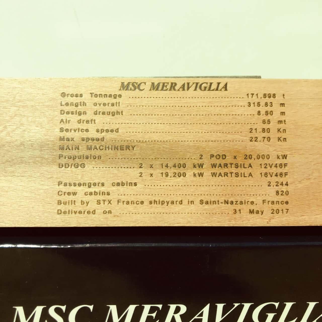 MSC Meraviglia Cruise Ship Display Ship