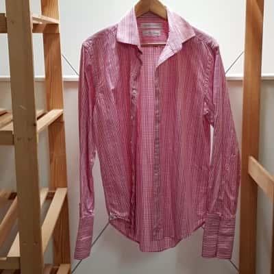 RHODES & BECKETT Mens Long Sleeve/Business Shirt Pink  Size 40