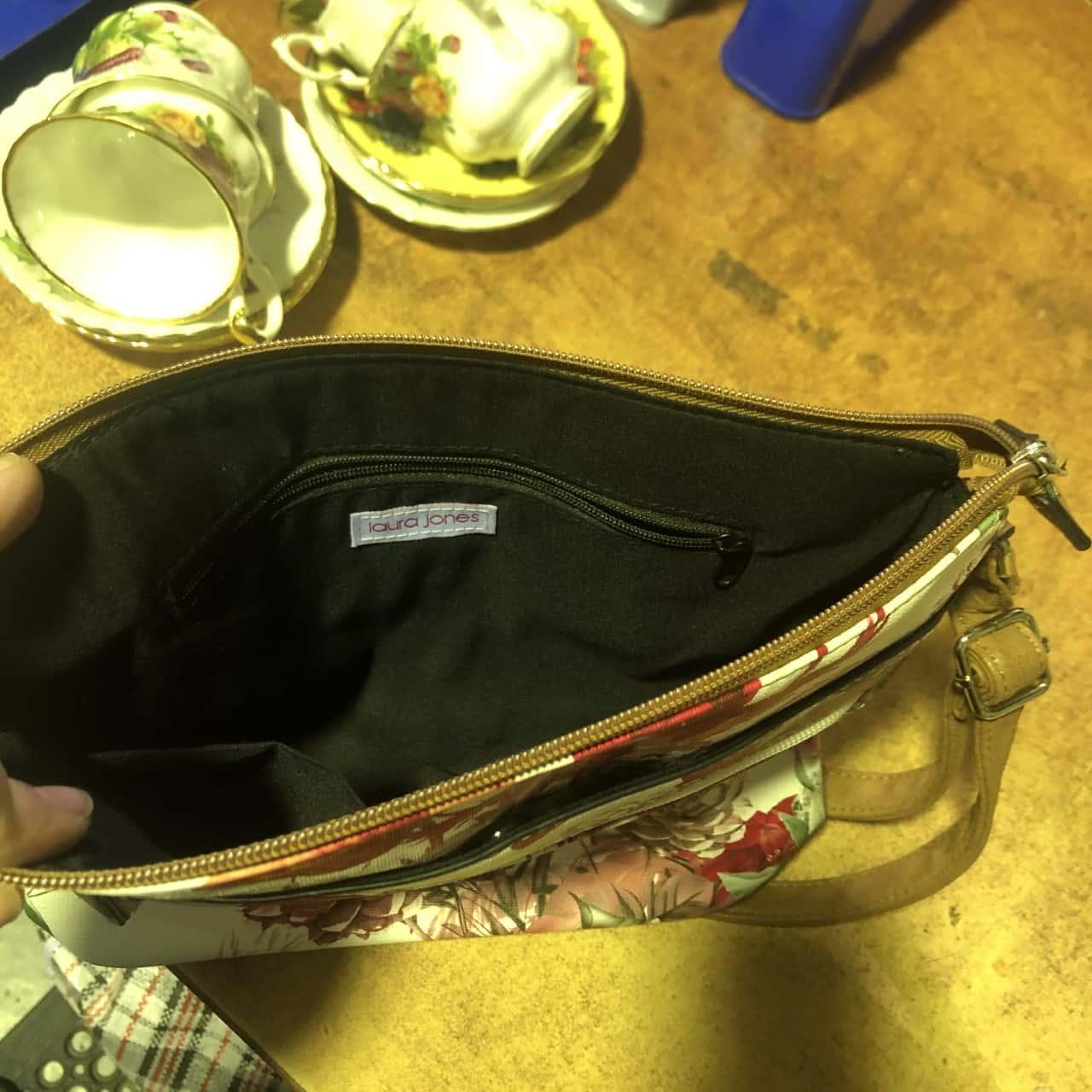 Womens Laura Jones Floral Side Bag