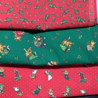 3 Various Christmas Prints each 210cm x 120cm